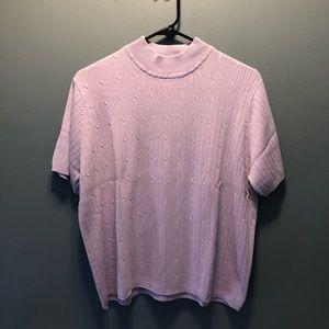 Ladies short sleeve sweater
